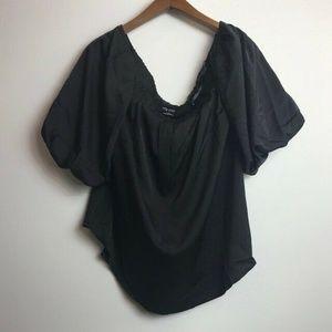 City Chic XL/22 Black Akemi Blouse O76